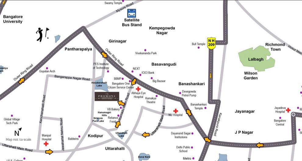 Location Map Tata Housing The Promont Location Advantages