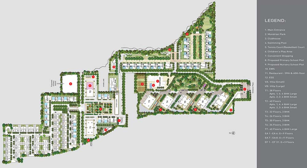 Master Plan Tata Housing Primanti Gurgaon