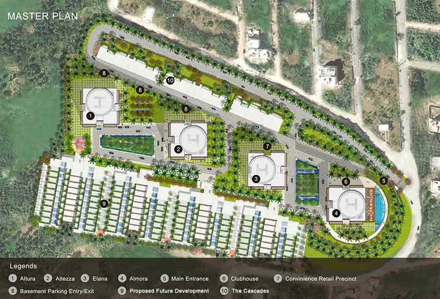 Master plan tata housing the promont for Apartment master plans